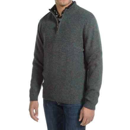 Pendleton Western Shetland Sweater - Zip Neck (For Men) in Blue/Green Heather - Closeouts