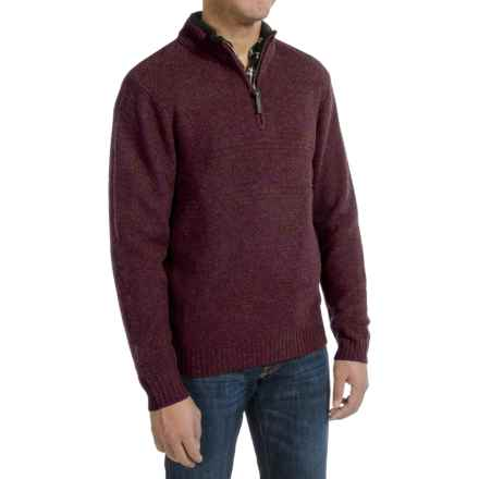 Pendleton Western Shetland Sweater - Zip Neck (For Men) in Maroon Heather - Closeouts
