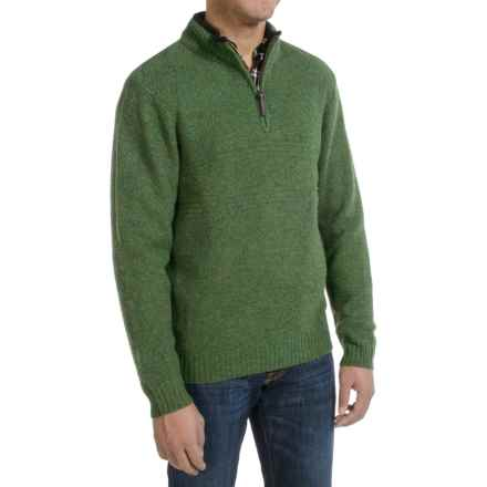 Pendleton Western Shetland Sweater - Zip Neck (For Men) in Spruce Green Heather - Closeouts