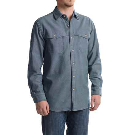 Pendleton Weston Cotton Shirt - Long Sleeve (For Men) in Blue/Navy Mix - Closeouts