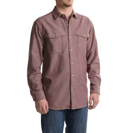 Pendleton Weston Cotton Shirt - Long Sleeve (For Men) in Burgandy/Grey Mix - Closeouts