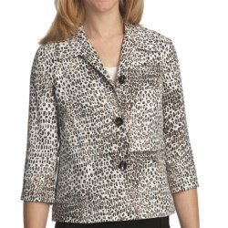 Pendleton Wild Card Jacket - 3/4 Sleeve (For Plus Size Women) in Animal Print