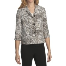 Pendleton Wild Card Jacket - 3/4 Sleeve (For Women) in Animal Print - Closeouts