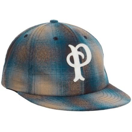 Pendleton Wool Baseball Cap (For Men) in Blue Tan Plaid - Closeouts 64fbedec5b33