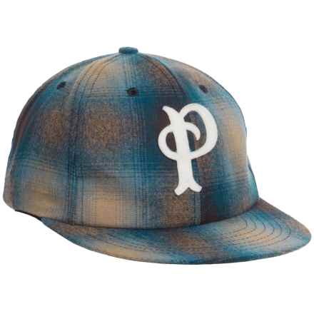 Pendleton Wool Baseball Cap (For Men) in Blue/Tan Plaid - Closeouts