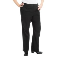 Pendleton Wool Chic Street Pants (For Plus Size Women) in Black - Closeouts