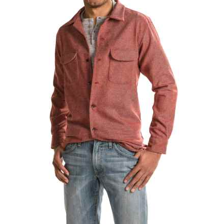 Pendleton WoolDenim Board Shirt - Long Sleeve (For Men) in Wool Denim Red - Closeouts