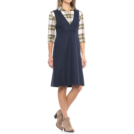 Pendleton Wooldenim Seamed Jumper - Virgin Wool, Sleeveless (For Women) in Dark Wool Denim