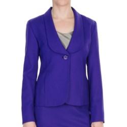 Pendleton Worsted Wool Crepe Debonair Jacket (For Women) in Purple