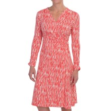 Pendleton Zebra Print Breezeway Knit Dress - Long Sleeve (For Women) in Salmonberry/Ivory - Closeouts