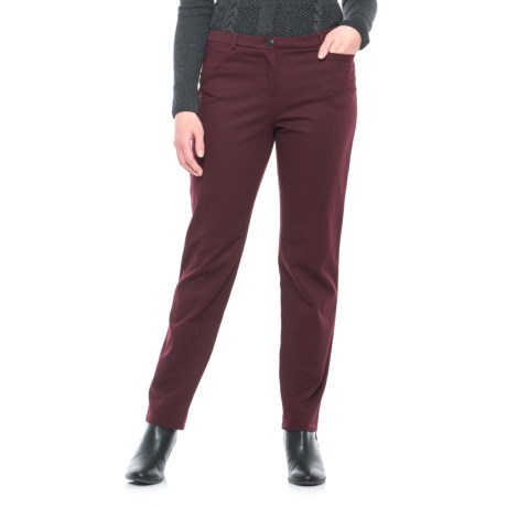 Pendleton Zia Cavalry Twill Pants (For Women) in Maroon