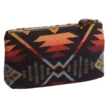 Pendleton Zip Pouch - Fabric and Leather (For Women) in Black - Closeouts