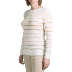 Pendleton Zuma Stripe Pullover Sweater - Cotton, Boat Neck (For Women) in Ivory Multi