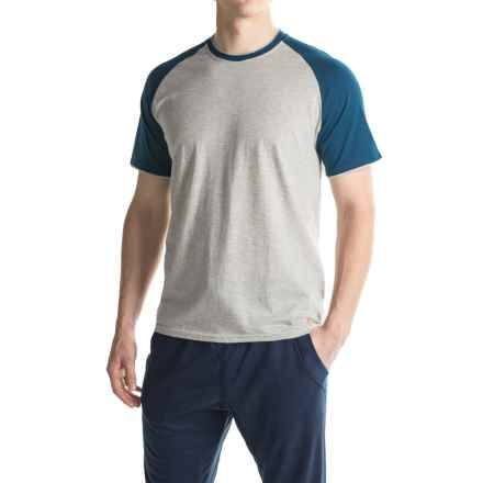 Penguin Baseball Lounge T-Shirt - Short Sleeve (For Men) in Grey Heather - Closeouts