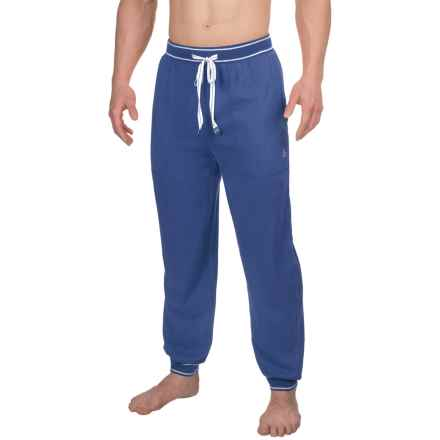 Penguin Brushed Jersey Lounge Pants (For Men) in Dress Blue - Closeouts