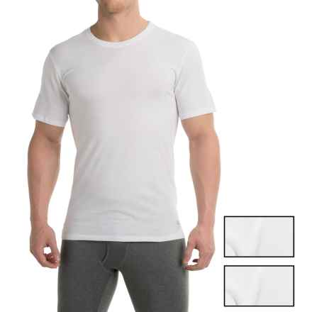 Penguin Cotton Slim Fit T-Shirt - 3-Pack, Short Sleeve (For Men) in White - Closeouts