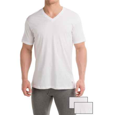 Penguin Cotton V-Neck T-Shirt - 3-Pack, Short Sleeve (For Men) in White - Closeouts