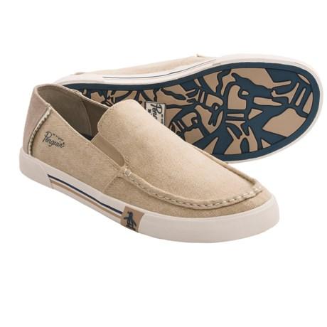 Penguin Footwear Ernie Canvas Loafers (For Men) in Beige