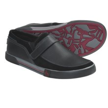 Penguin Footwear Ernie Shoes - Slip-Ons (For Men) in Black/Red - Closeouts