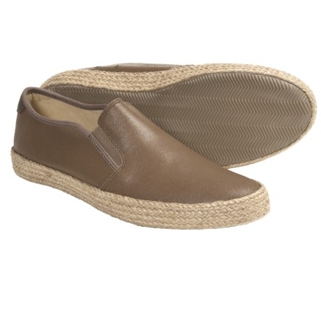 Penguin Footwear Espy Shoes - Leather, Slip-Ons (For Men) in Tan