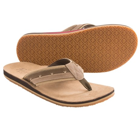 Penguin Footwear Split Sandals (For Men) in Brown
