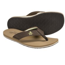 Penguin Footwear Stripe Sandals - Flip-Flops (For Men) in Brown - Closeouts