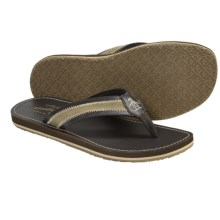 Penguin Footwear Zigzag Sandals - Flip-Flops (For Men) in Dark Brown - Closeouts