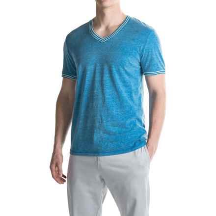Penguin Lounge V-Neck T-Shirt - Short Sleeve (For Men) in Medium Blue - Closeouts