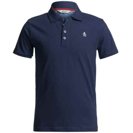 Penguin Polo Shirt - Short Sleeve (For Big Boys) in Dress Blues - Closeouts