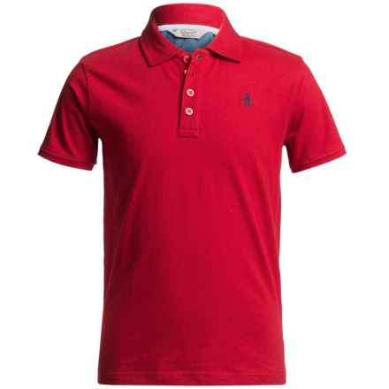 Penguin Polo Shirt - Short Sleeve (For Little Boys) in Red - Closeouts