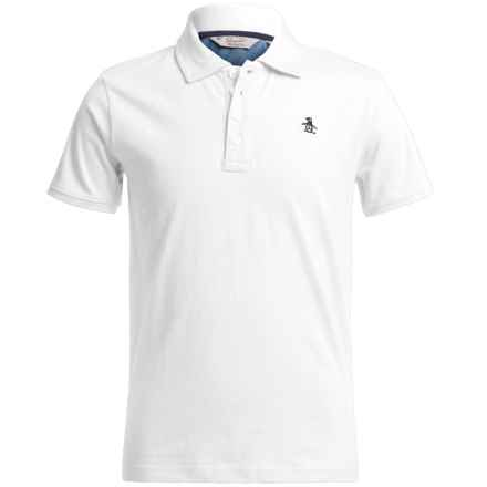 Penguin Polo Shirt - Short Sleeve (For Little Boys) in White - Closeouts