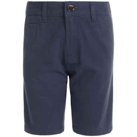Penguin Solid Twill Shorts (For Big Boys) in Dress Blues - Closeouts