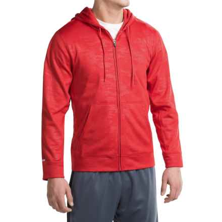 Penn Embossed Hoodie - Full Zip (For Men) in Varsity Red - Closeouts
