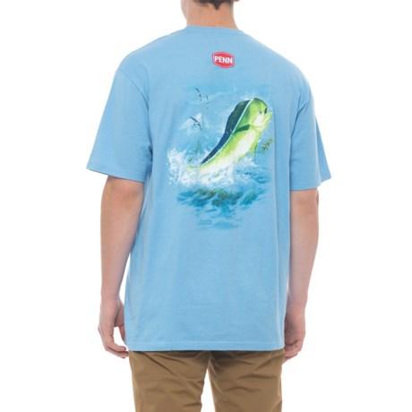Penn Fishing T-Shirt - Short Sleeve (For Men) in Mahi Blue