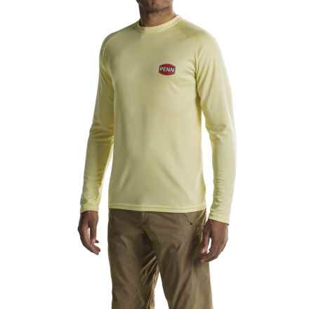 Penn Inshore High-Performance Shirt - UPF 50+, Long Sleeve (For Men) in Yellow - Closeouts