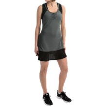 Penn Tennis Perforated Combo Dress - Sleeveless (For Women) in Charcoal Heather - Closeouts