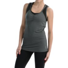 Penn Tennis Perforated Combo Tank Top (For Women) in Charcoal Heather - Closeouts