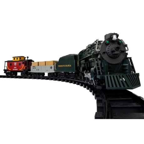 CLOSEOUTS. For train and model train enthusiasts young and old, Lioneland#39;s Pennsylvania Flyer Freight Train Ready-to-Play set offers a life-like recreation of the Pennsylvania Flyer steam engine and train cars. Available Colors: SEE PHOTO.