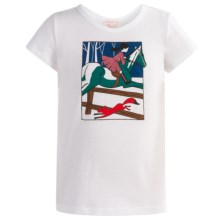 Penny Candy Graphic Shirt - Short Sleeve (For Little and Big Girls) in Snow White - Closeouts