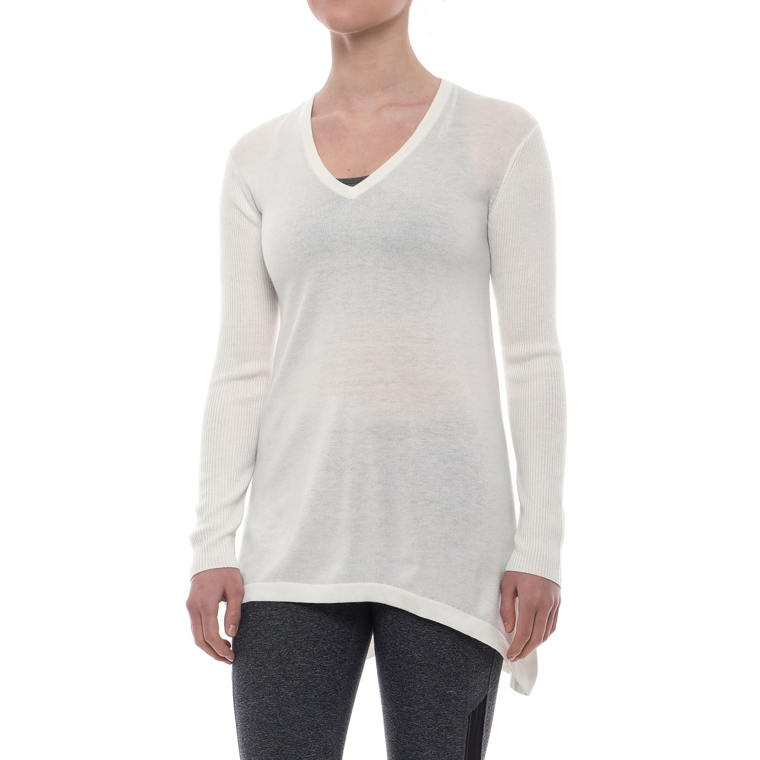 Peony V-Neck Tunic Sweater (For Women) - Save 76%