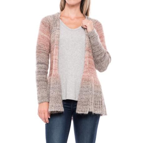 Image of Peplum Marled Cardigan Sweater (For Women)