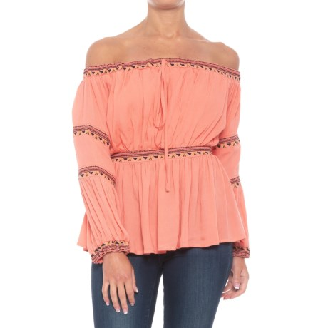 Peppercorn Embroidered Peasant Blouse - Long Sleeve (For Women)