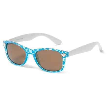 Peppers Polarized Eyeware Darla Sunglasses - Polarized (For Kids) in Teal Haerts W/White/Brown - Closeouts