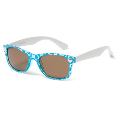 Peppers Polarized Eyeware Darla Sunglasses - Polarized (For Kids) in Teal Haerts W/White/Brown