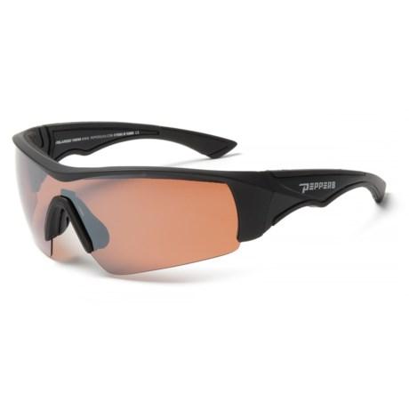 Peppers Polarized Eyeware Mako Floating Sunglasses - Polarized in Matte Black/Rose