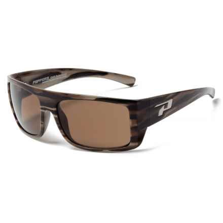Peppers Polarized Eyeware Man-O-War Sunglasses - Polarized Mirror Lenses in Woody Tortoise/Brown - Closeouts