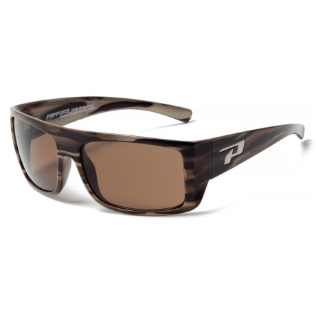 Peppers Polarized Eyeware Man-O-War Sunglasses - Polarized Mirror Lenses in Woody Tortoise/Brown