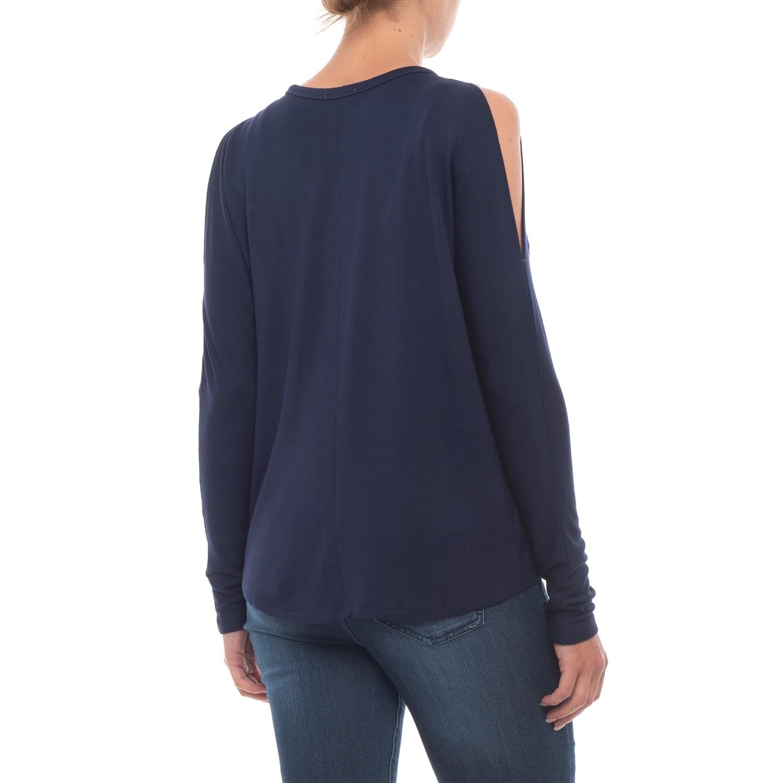 abf758f32de8c Per Se Cold-Shoulder Shirt - Long Sleeve (For Women)
