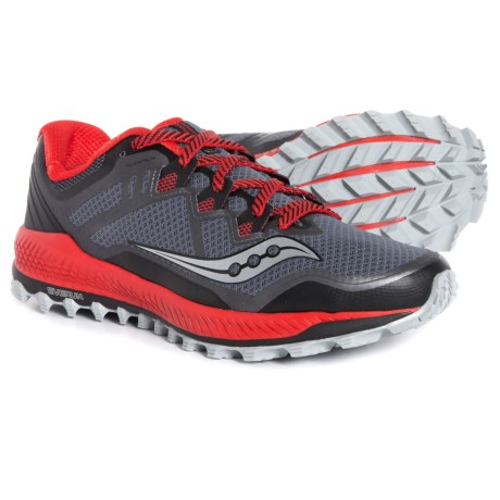 Peregrine 8 Trail Running Shoes (For Men) - BLACK/RED (12 )