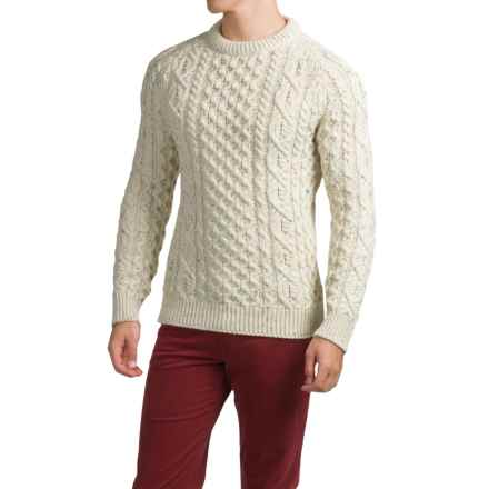 Peregrine by J. G. Glover Aran Sweater - Merino Wool (For Men) in Aran Nep - Closeouts